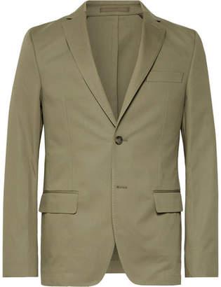 Officine Generale Olive Slim-Fit Unstructured Cotton-Twill Suit Jacket