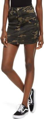 Tinsel Camouflage Denim Miniskirt