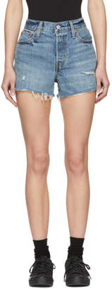 Levi's Levis Blue Denim Wedgie Shorts