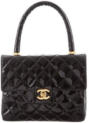 Chanel Patent Top Handle Kelly Bag