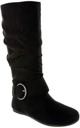 MIA AMORE Mia Amore Womens Shoes Flat Heel Pull On Wide Width Slouch Dress Boots