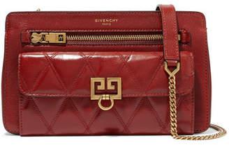 Givenchy Pocket Quilted Leather Shoulder Bag - Brick
