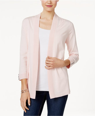 Charter Club Button-Cuff Cardigan, Only at Macy's $69.50 thestylecure.com