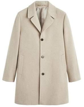 Mango man MANGO MAN Tailored wool-blend overcoat