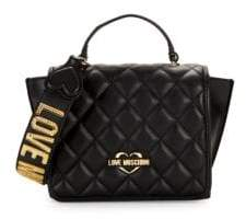 Love Moschino Quilted Leather Crossbody Bag