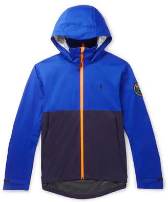 Polo Ralph Lauren Logo-Appliquéd Colour-Block Shell Hooded Jacket