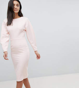 Asos Tall TALL Long Sleeve Midi Pencil Dress