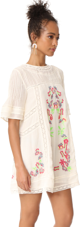 Free People Perfectly Victorian Embroidered Mini Dress 2