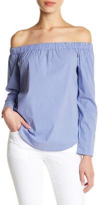 philosophy Off-the-Shoulder Stripe Shirt (Petite) $68 thestylecure.com