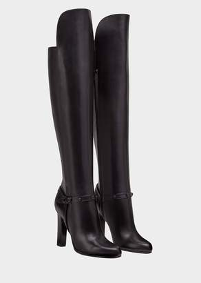 Versace Knee-High Signature Boots