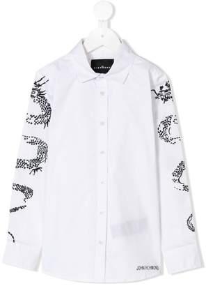John Richmond Junior embellished sleeve shirt