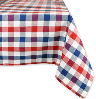 Avanti Red & Blue Check Cotton Tablecloth