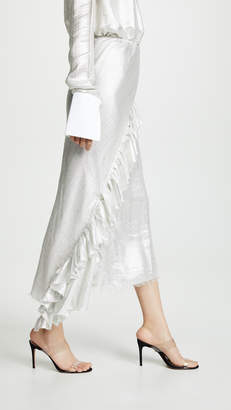 ANAÏS JOURDEN Silver Bias Midi Skirt