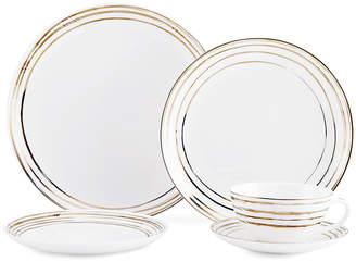 Mikasa Swirl Gold 20 Piece Dinnerware Set
