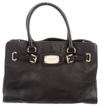 MICHAEL Michael Kors Buckle Accented Leather Satchel