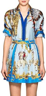 Versace Women's Graphic Silk Blouse