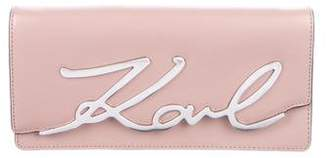 Karl Lagerfeld by Smooth Leather Clutch