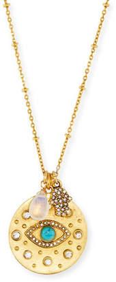 Sequin Evil Eye Talisman Pendant Necklace