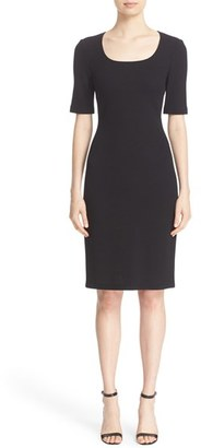 Women's St. John Collection Milano Pique Knit Scoop Neck Dress $895 thestylecure.com