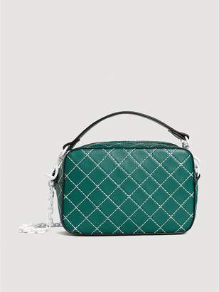 MANGO Aramis Seam Crossbody Bag - Green