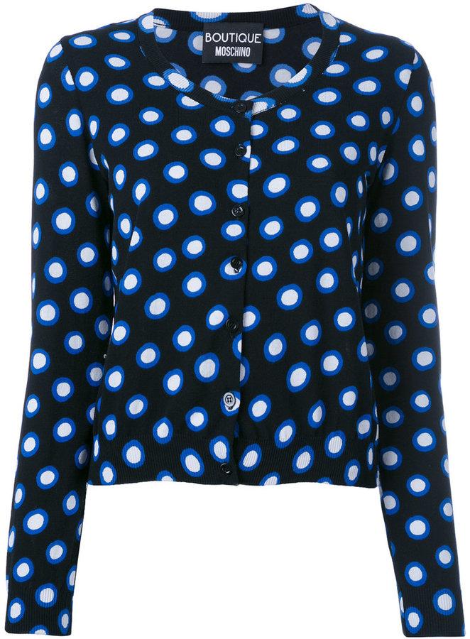 MoschinoBoutique Moschino spot print cardigan
