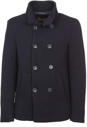 Herno Double Breasted Cropped Peacoat