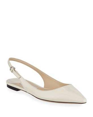 Jimmy Choo Erin Patent Leather Slingback Flats