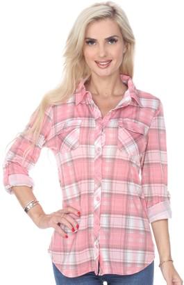 Oakley Women's White Mark Stretchy Plaid Top