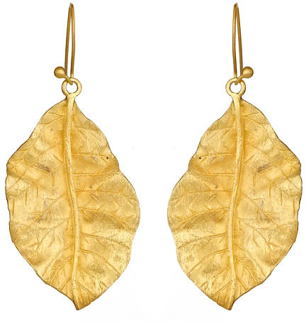 SKU Jewelry Gold Leaf Earrings