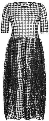 Jil Sander Semi-Sheer Cotton Dress