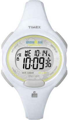 Timex Women's Ironman Essential 10 Mid-Size Watch, White Resin Strap