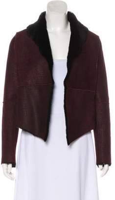 Haute Hippie Shearling Shawl Collared Jacket w/ Tags