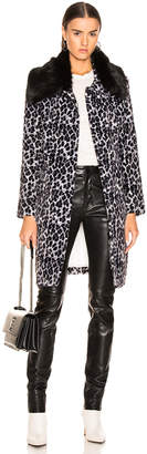 Shrimps Erin Faux Fur Coat in Grey Leopard & Black | FWRD