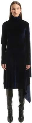Vetements Open Back Panel Velvet Midi Dress