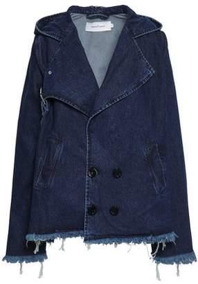 Marques Almeida Marques' Almeida Frayed Denim Hooded Jacket