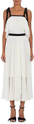 Philosophy di Lorenzo Serafini Women's Pleated Dotted-Lace Maxi Dress - White