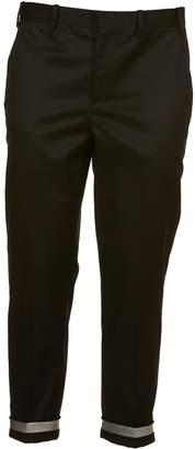 Neil Barrett Contrast Turn Up Trousers