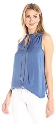 Lark & Ro Women's Sleeveless Neck Tie Top