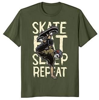 Eat Sleep Skateboard Repeat Funny T-Shirt Skateboarding Tee