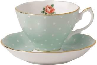 Royal Albert Polka Rose Teacup and Saucer