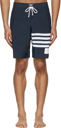 Thom Browne Navy Board Shorts $650 thestylecure.com