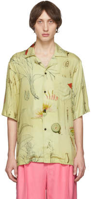 Acne Studios Yellow Botanical Print Shirt