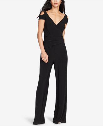 Lauren Ralph Lauren Stretch-Jersey Cold Shoulder Jumpsuit $149 thestylecure.com