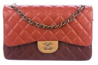 Chanel Paris-Edinburgh Tricolor Jumbo Double Flap Bag Terracotta Paris-Edinburgh Tricolor Jumbo Double Flap Bag