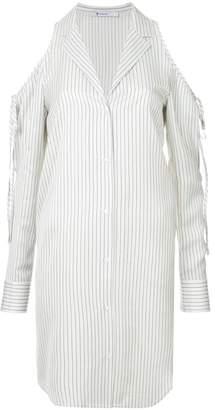 Alexander Wang cold shoulder striped shirt