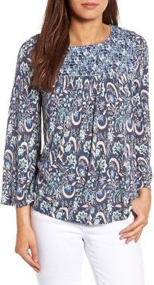 Women's Lucky Brand Mix Print Smocked Top $59.50 thestylecure.com
