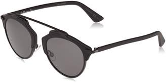 acdb8e570d4e Christian Dior Women DIORSOREAL 48 Black Matte Grey Sunglasses 48mm