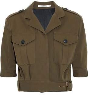 Veronica Beard Fleet Cropped Cotton-Blend Twill Jacket