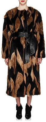 Givenchy Women's Faux-Fur Long Coat