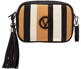 Mario Valentino Valentino By Mia Striped Leather Tassel Shoulder Bag